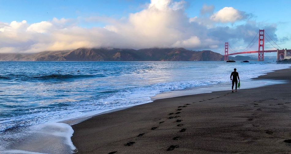 San Francisco - 001 Baker Beach Beach Sea Cloud - Sky Leisure Activity Beauty In Nature Nature Outdoors Travel Destinations Nature EyeEmNewHere EyeEm Nature Lover EyeEm Best Shots EyeEm Gallery EyeEm Selects Be. Ready. Adventures In The City