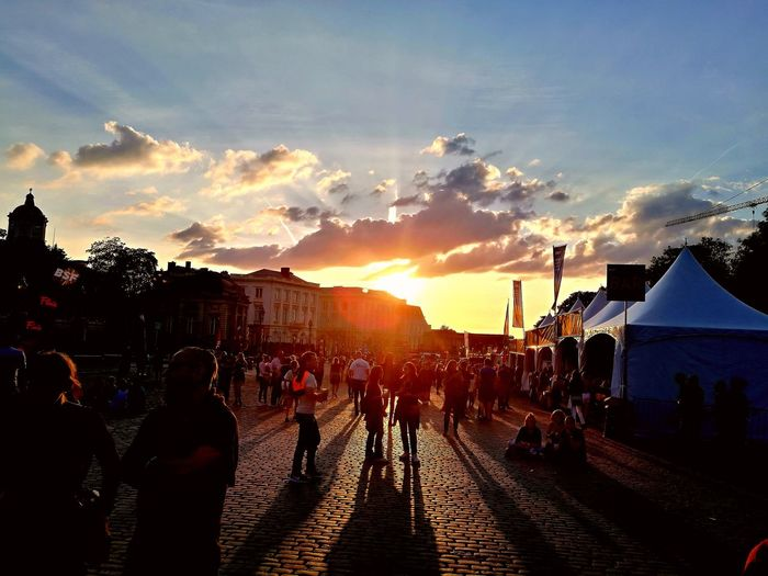 Brussels Summer Festival '18 Festival Festival Season Music Festival EyeEm Selects BxlmaBelle Brussels❤️ Brusselslife Sunset Bsf Brusselssummerfestival Beautifulsky Fan - Enthusiast Men Sky Cloud - Sky Music Concert