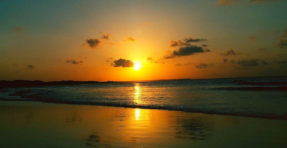 City of Salinópolis, Atalaia Beach, State of Pará, Amazon, Brazil. Sunset Sea Sun Silhouette Reflection Beach Vacations