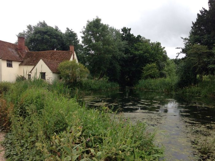 This is what John Constable and was looking at when he painted the Hay Wain at Flatford Mill Suffolk, United Kingdom