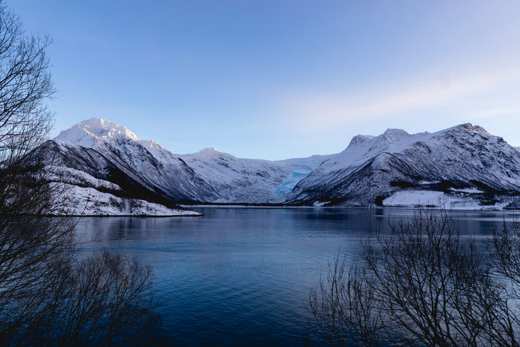 a little leftover glacier Scenics - Nature Mountain Water Beauty In Nature Tranquil Scene Tranquility Lake Sky Winter Cold Temperature Mountain Range Day Nature Waterfront No People Idyllic Snow Non-urban Scene Snowcapped Mountain Outdoors Wallpaper Glacier No Norway Nature Fjord