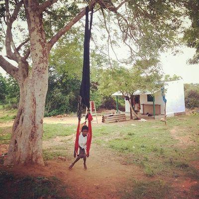 On a custom swing! Lifeinshots India Lifestyle Lifeinindia Countryside Swing Kids Travel TravelTales Beautifuldestinations Morningwalks Morning Follow Followback Followme Likeforlike Like4like