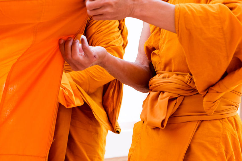 Yellow robe of Buddhist monks, Closeup on buddhist monk Buddhist Buddhist Art Man Orange Religion And Tradition Religious Art Thailand Buddhist Culture Buddhist Monks Buddhist Temple Culture Culture And Tradition Cultures Human Body Part Monks Monks In Temple People Religion Religion And Beliefs Religious  Robe Temple Yellow Yellow Robe