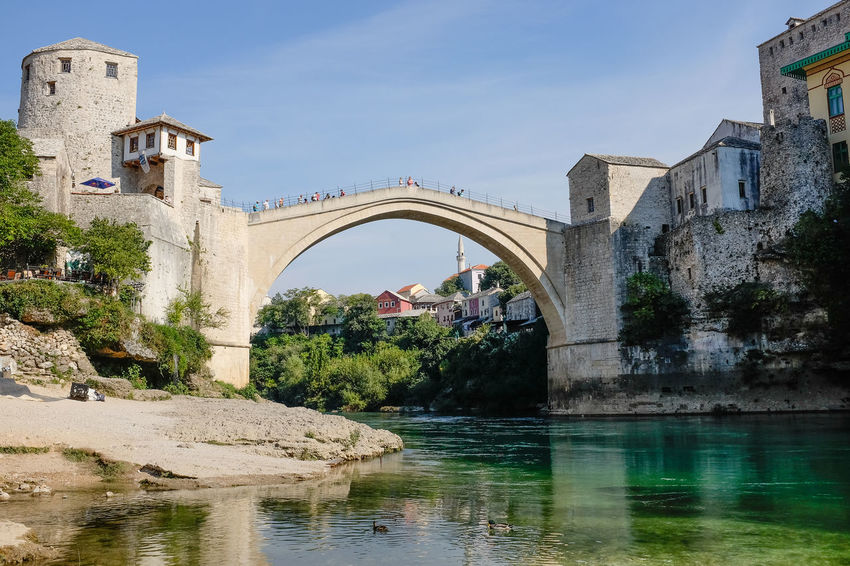 Mostar Bridge - Stari Most Mostar Mostar Bridge Arch Architecture Bridge - Man Made Structure Building Exterior Built Structure Connection Day Nature No People Outdoors Reflection River River Tara Sky Stari Most Water Waterfront