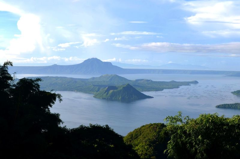 """""""Taal"""" smallest volcano in the world Escala Tagaytay Philippines Tree Water Sea Mountain Blue Sky Landscape Cloud - Sky Active Volcano"""