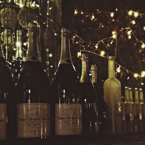 Dead champagne bottles Singapore Bar