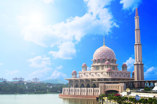 #Mosque #architecture #art #exterior #islam #landscape #malaysia #scenery #sky Architecture Day Dome Place Of Worship Tourism