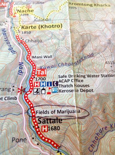 Backgrounds Close-up Cyberspace Day Field Of Marijuana Flower Hiking Map Map Of The World Marijuana Nepal No People Weeed