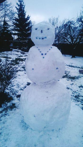 Outdoor Snowman Snowwoman Snow ❄