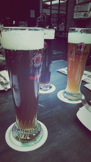 Pleasure comes in 3 shades. Drinking Beer Weserwehr Paulaners