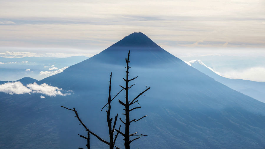 Volcano in Guatemala Guatemala Tree Trees Volcanoes Beauty In Nature Day Mountain Mountain Range Nature No People Outdoors Scenics Sky Tranquil Scene Tranquility Volcanic Landscape Volcano Water