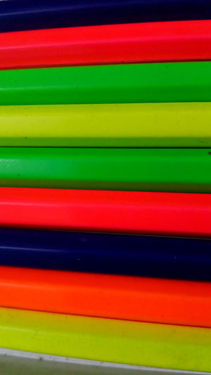 Multi Colored Striped Vibrant Color Green Color Backgrounds Yellow Abstract Full Frame No People Close-up Saturated Color Neon Life Study Material Pencils School Supplies Student Life Mobile Photography