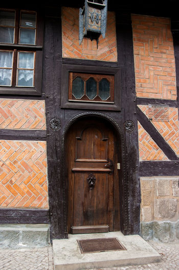 Quedlinburg Built Structure Building Exterior Architecture Building Day Outdoors Window Timbering Old Old Buildings History Historic Architecture Door Wood - Material Detail Details Glass - Material Travel Photography Streetphotography