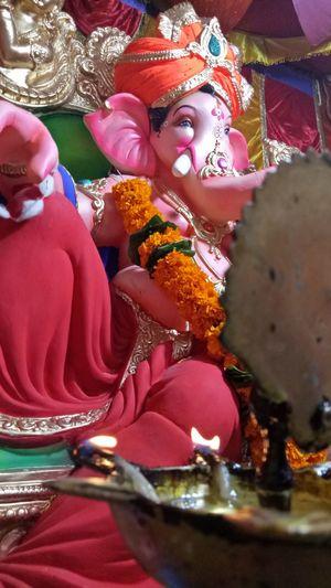 Ganapatibappamorya LordGanesha Elephentlord AGphotography Photography Photographer Place Of Worship Religion Spirituality Cultures Close-up Idol Ganesha Oil Lamp Hindu God