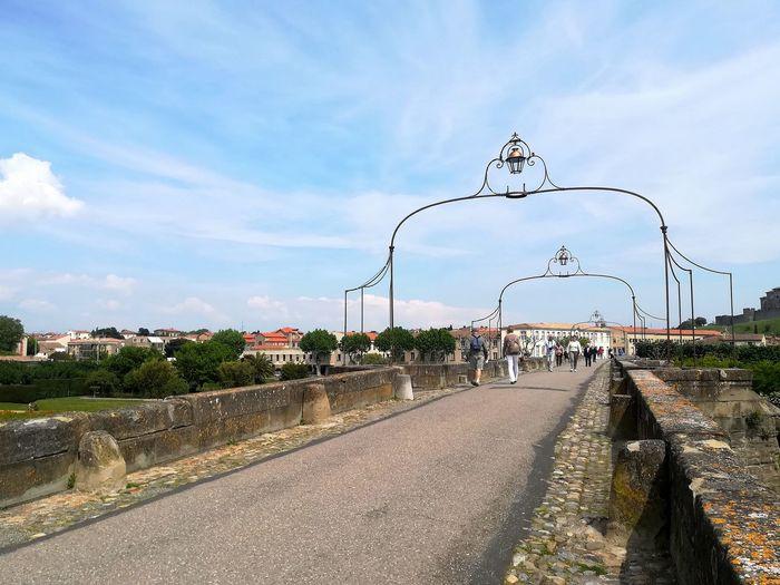 Carcassonne bridge Bridge Carcassonne France Occitanie City Bird Road Sky Cloud - Sky