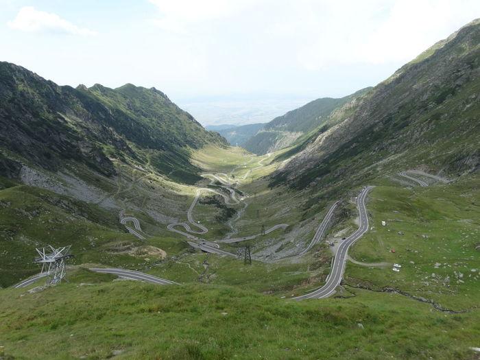 Narrow roads along countryside landscape