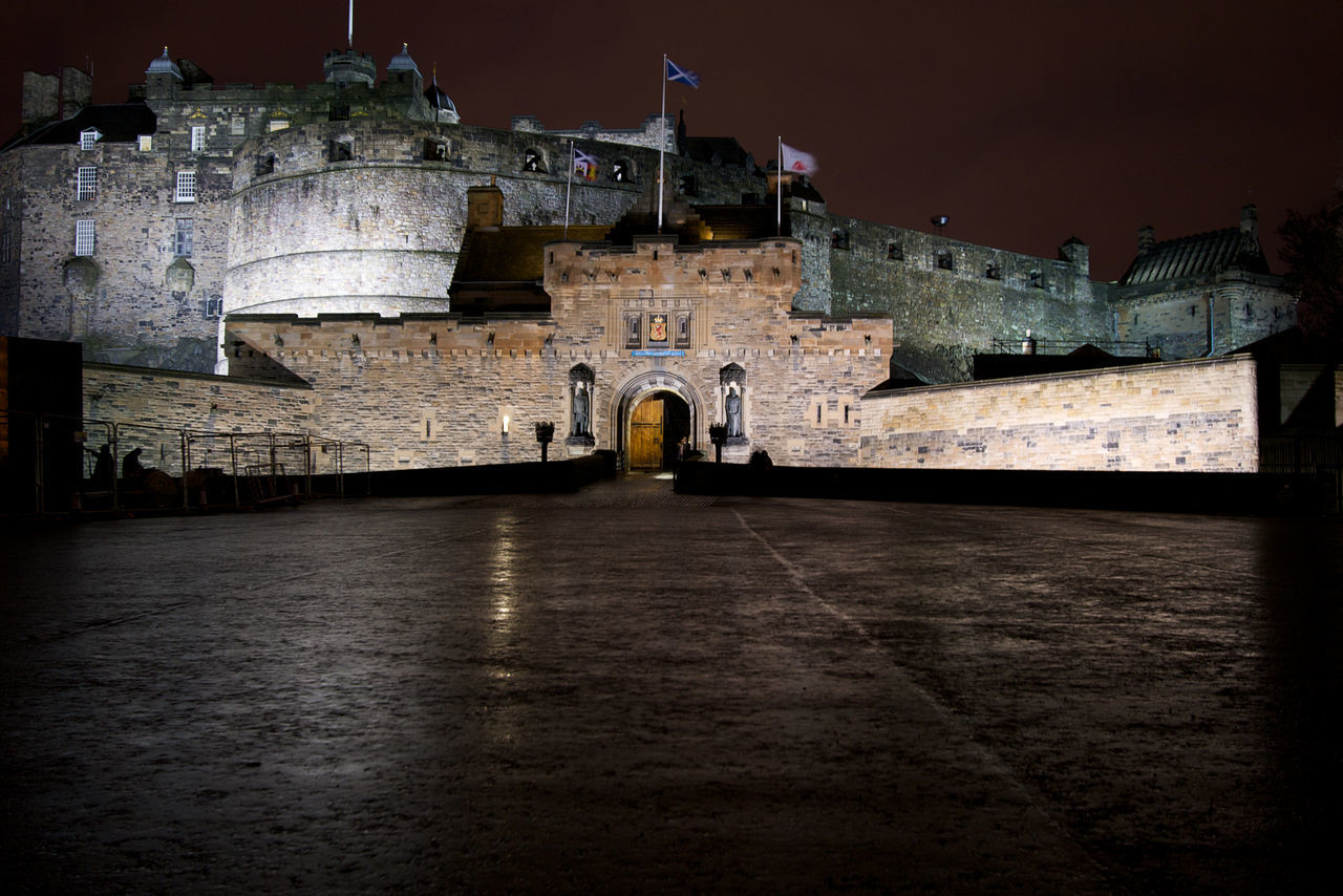 HISTORIC BUILDING AT NIGHT