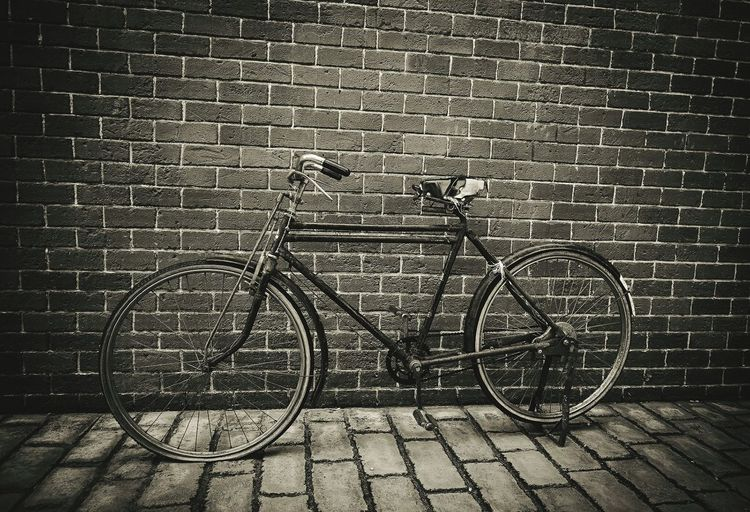 old bicycle vintage Vintage Bicycle Transportation Bicycle Rack Mode Of Transport Stationary No People Outdoors