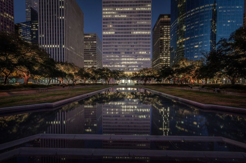 Last Saturday night at the reflecting pool... Houston Texas Moodscapes Hdr_Collection Architecture Cityscapes Nightphotography Enjoying Life Street Photography Shootermag TGiF x 38