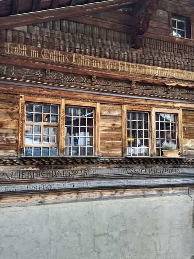 Alte Taverne Altetaverne Alteeisbahn Adelboden Architecture Built Structure Building Exterior Window No People Day Full Frame