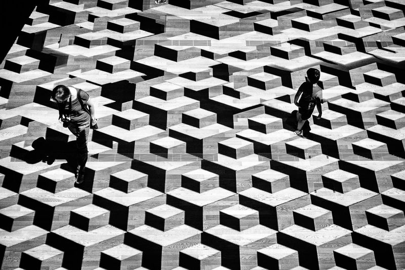 FlatLand Backgrounds Pattern Full Frame High Angle View Geometric Shape Repetition Patterned Blackandwhite Streetphotography Streetphoto_bw Architecture