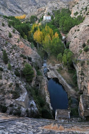 Embalse De Cueva Foradada Day España Full Frame No People Oasis River Rock - Object Tree Valley View From Above Water