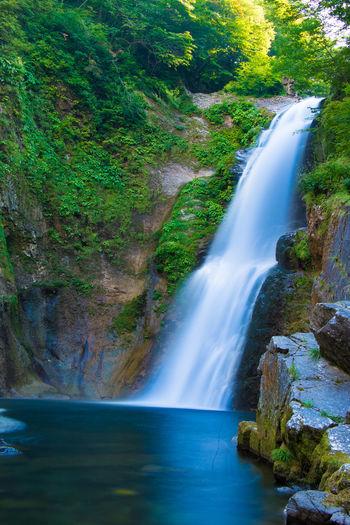 Waterfall River スローシャッター Miyagi