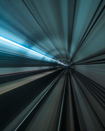 Wormhole Long Exposure Underground Subway Tunnel Night Photography