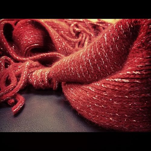 Red Scarf Scarfday Soft warm artful