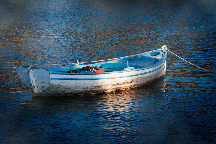 Small boat on the sea