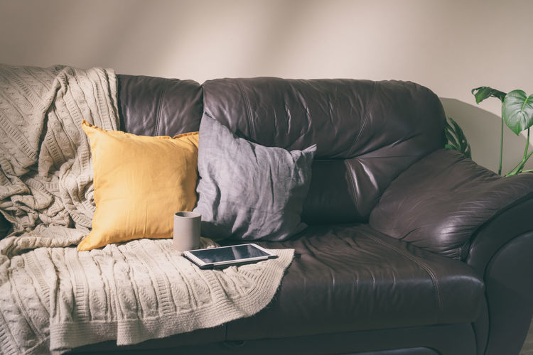 Lounge chairs on sofa at home