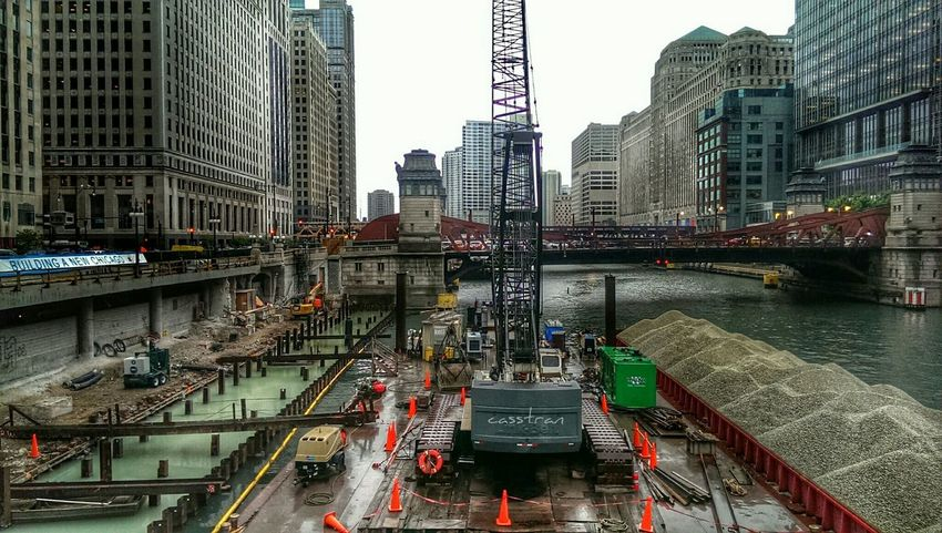 Progress Chicago Riverwalk ... Construction EyeEm Best Edits Chicago River Architecture
