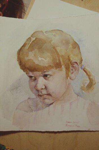 Art Drawing Watercolor Enjoying Life
