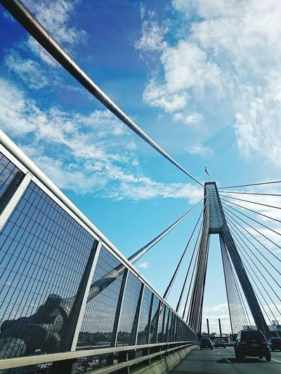 Crossing the ANZAC Bridge, Sydney Architecture Urban Geometry Urban Photography