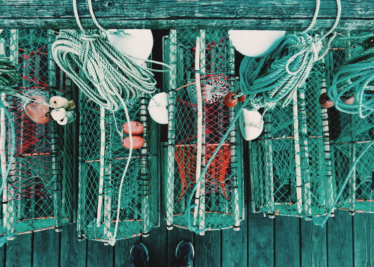 Go fishing... Abundance Backgrounds Close-up Day Full Frame In A Row Large Group Of Objects Metal Metallic No People Old Outdoors Side By Side Variation Wood - Material Things I Like Fishing Lobster Pots Harbor Active Lifestyle  Activity Here Belongs To Me Equipment Fishing Nets Fishing Life