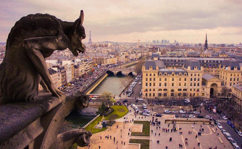 Architecture Art And Craft Cathédrale Notre Dame De Paris Monument Sculpture Sky Statue Travel Destinations The Architect - 2018 EyeEm Awards