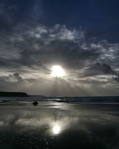 Marloes Sands, Pembrokeshire Beachphotography Dramatic Sky Winter Sun Cliffs Coastline Pembrokeshire Reflection Landscape Sea Sky No People Low Tide Cloud - Sky Outdoors Nature