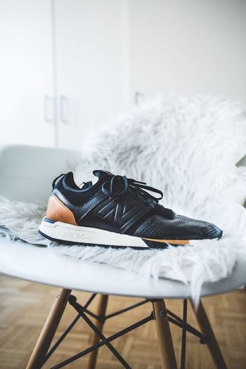 Newbalance owning 2017 Indoors  No People Home Interior Bedroom Domestic Room Day Sneaker NewBalance Shoe