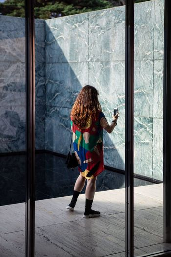 Girl Taking Photos Selfie Portrait Selfie ✌ Colour Colorful Full Length One Person Rear View Women Standing Childhood Window Leisure Activity Females Outdoors Child Hair Hairstyle Girls Clothing Day Lifestyles The Portraitist - 2018 EyeEm Awards The Architect - 2018 EyeEm Awards The Fashion Photographer - 2018 EyeEm Awards A New Perspective On Life International Women's Day 2019