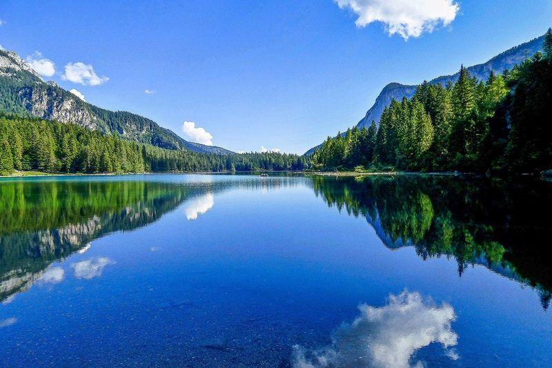 Water mirror Riflesso Lago Reflection Trentino Alto Adige Mountain Water Nature Photography Nature Trip Travel Photography Landscape Lake