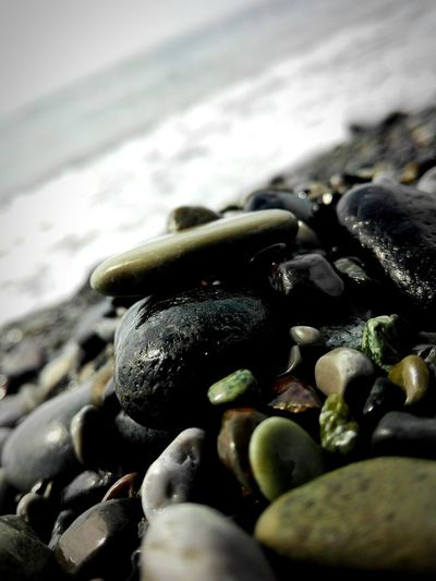 Sea Beach Water Focus On Foreground Stone - Object Wave Outdoors Day Pebble Beach Stone Tranquil Scene Coastline Summer2016 Water Surface Colour Of Life Summer ☀ Water Reflections Jump In The Water