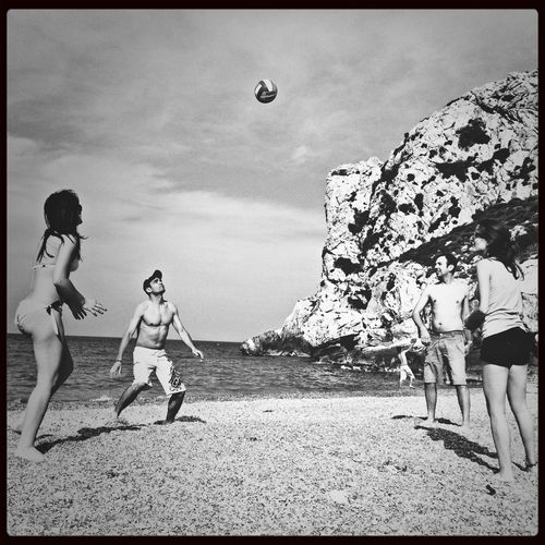 Enjoying The Sun On The Beach Stopping Time Volleyball