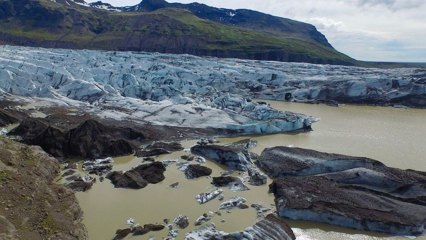 Iceland Beauty In Nature Blue Ice Glacier Day Dronephotography Iceberg Lake Landscape Mountain Nature No People Outdoors Rock - Object Scenics Sky Tranquil Scene Tranquility Water