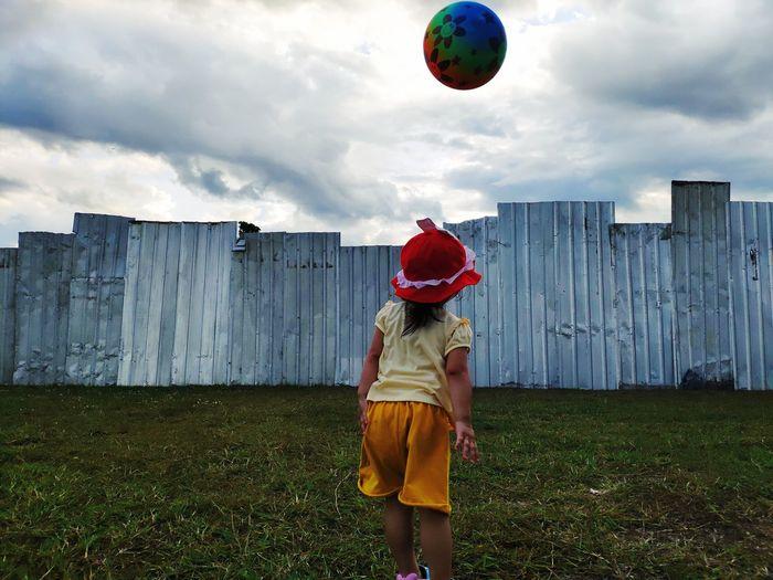 Kid and ball
