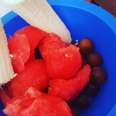Fruit bowl Indoors  Food Food And Drink No People Healthy Eating Red Close-up Day Freshness Fruit Bowl Watermelon Grapes Banana Healthy Choices Healthy Food I Love Fruit