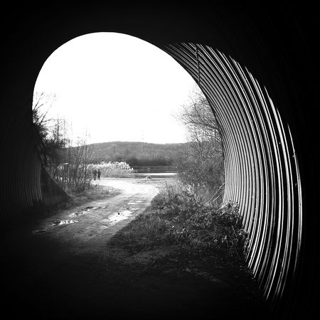 Structures Blackandwhite not just a Tunnel with Light And Shadow