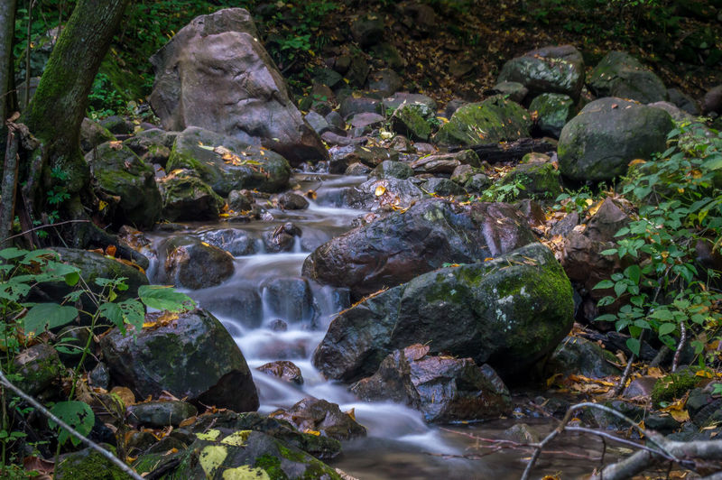 High Resolution Backgrounds Beauty In Nature Day Forest Long Exposure Motion Nature No People Outdoors Rock - Object Wallpaper Water Waterfall Colour Your Horizn
