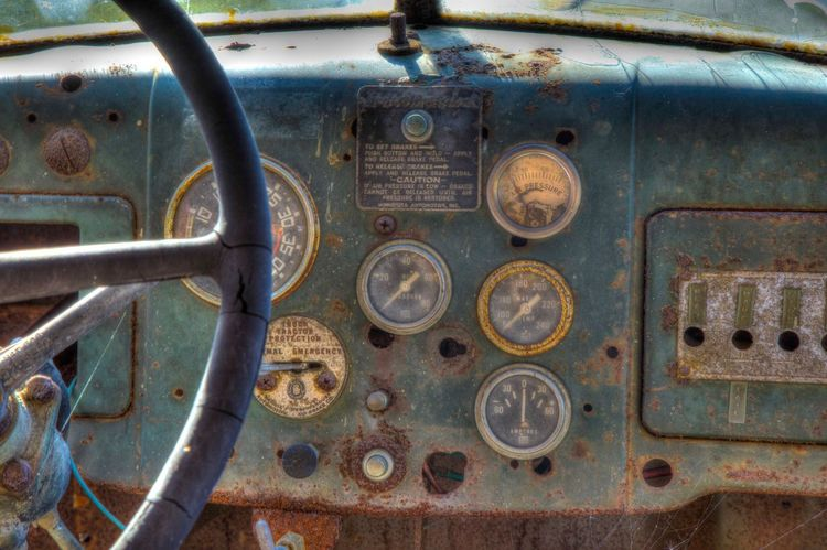 Close-up No People Gauge Day Autocar Canon 5d Mark Lll Old Truck Old Truck Photography
