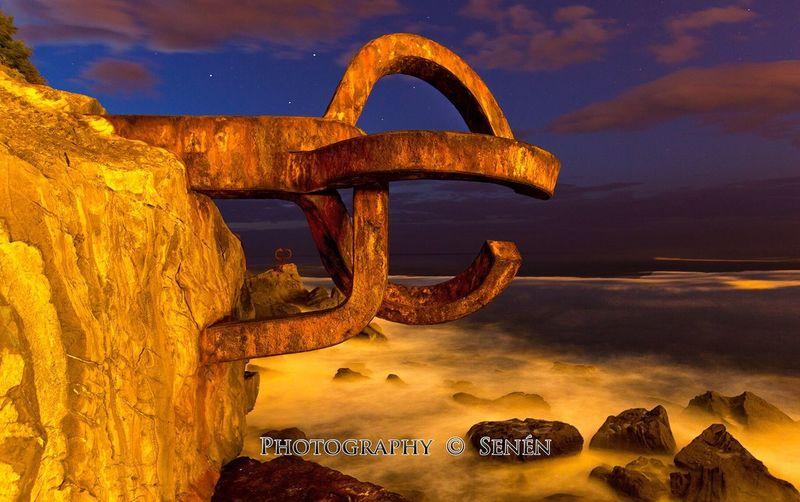 Tranquility peine de los vientos Pais vasco  Mar Puesta Del Sol