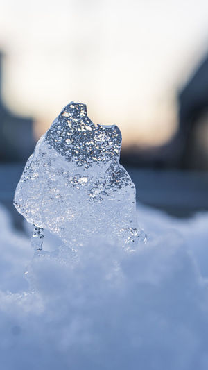 Close-up Cold Temperature Ice Selective Focus Crystal Frozen Winter Snow Mineral No People Nature Focus On Foreground Water Outdoors Melting Salt - Mineral Ice Crystal Solid Food And Drink Purity Quartz